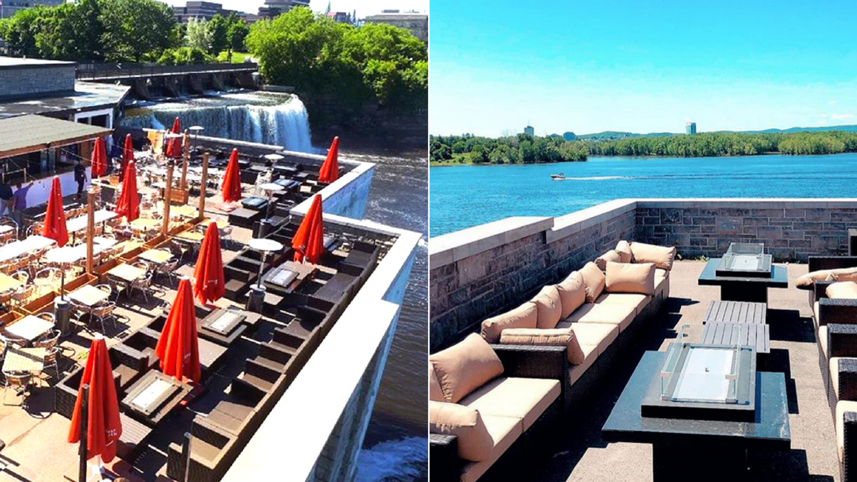 This Patio In Ottawa Has A Waterfall View And It's So Perfect For Summer
