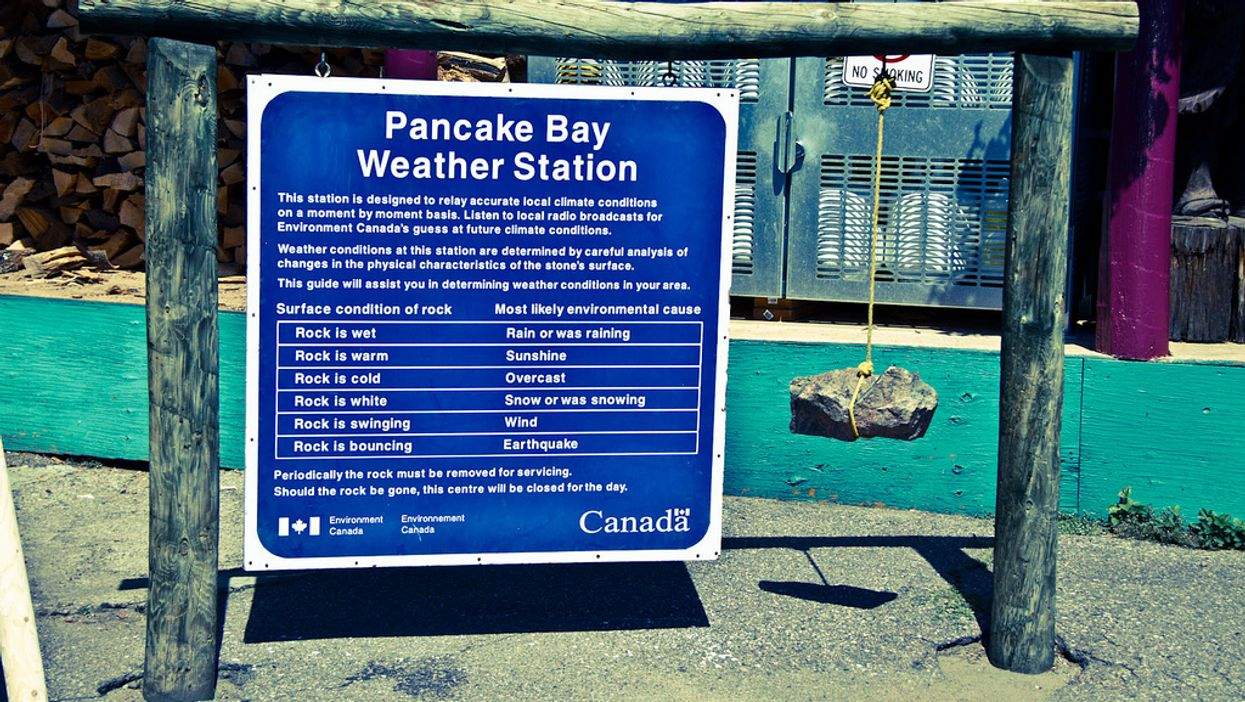 There's A Provincial Park In Canada That Genuinely Uses A Rock To Do Weather Forecasts And It's Ridiculous