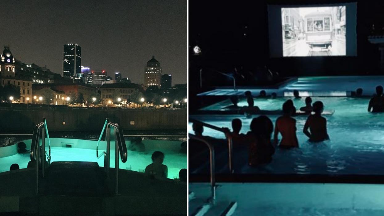 Cette activité spa-cinéma de nuit avec une vue folle sur Montréal est l'occasion parfaite pour gâter ta blonde