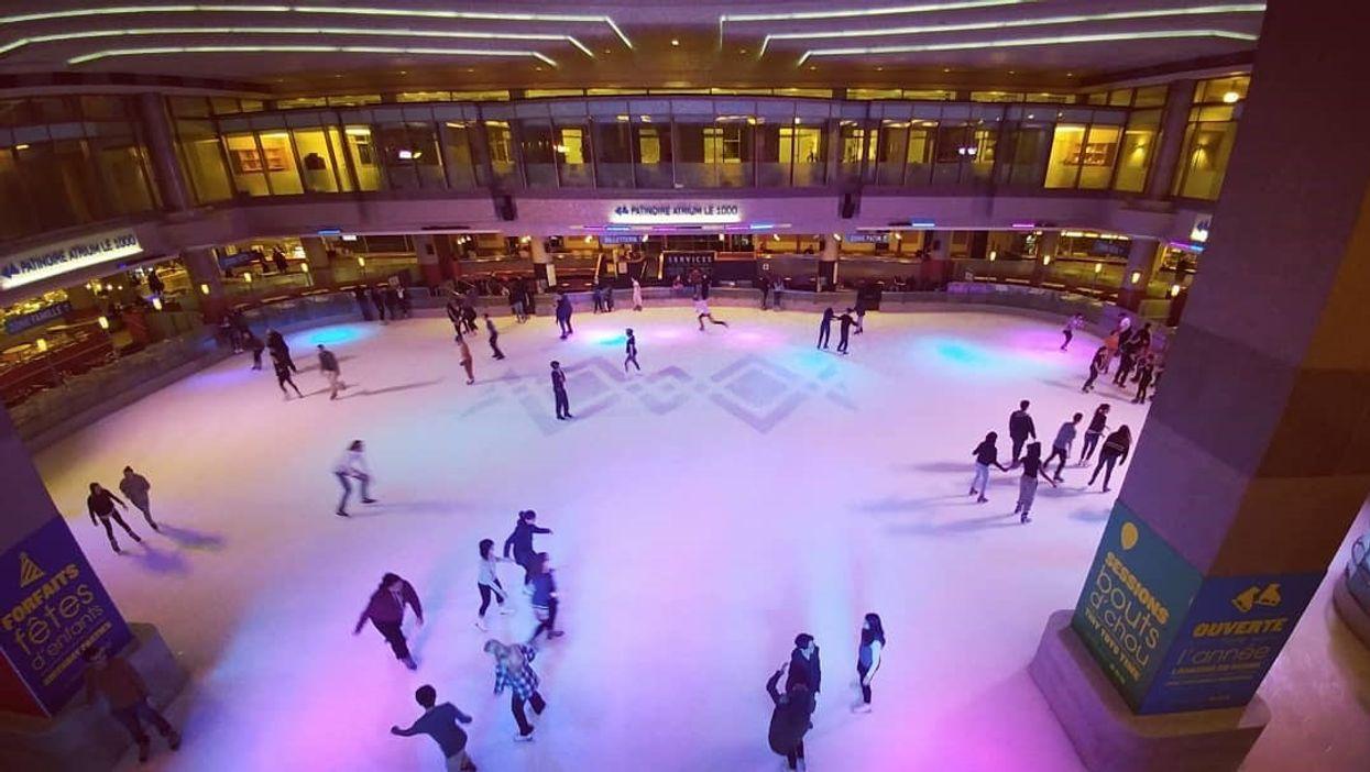 Tu peux aller à cette patinoire intérieure à Montréal si tu n'endures plus les 40 degrés