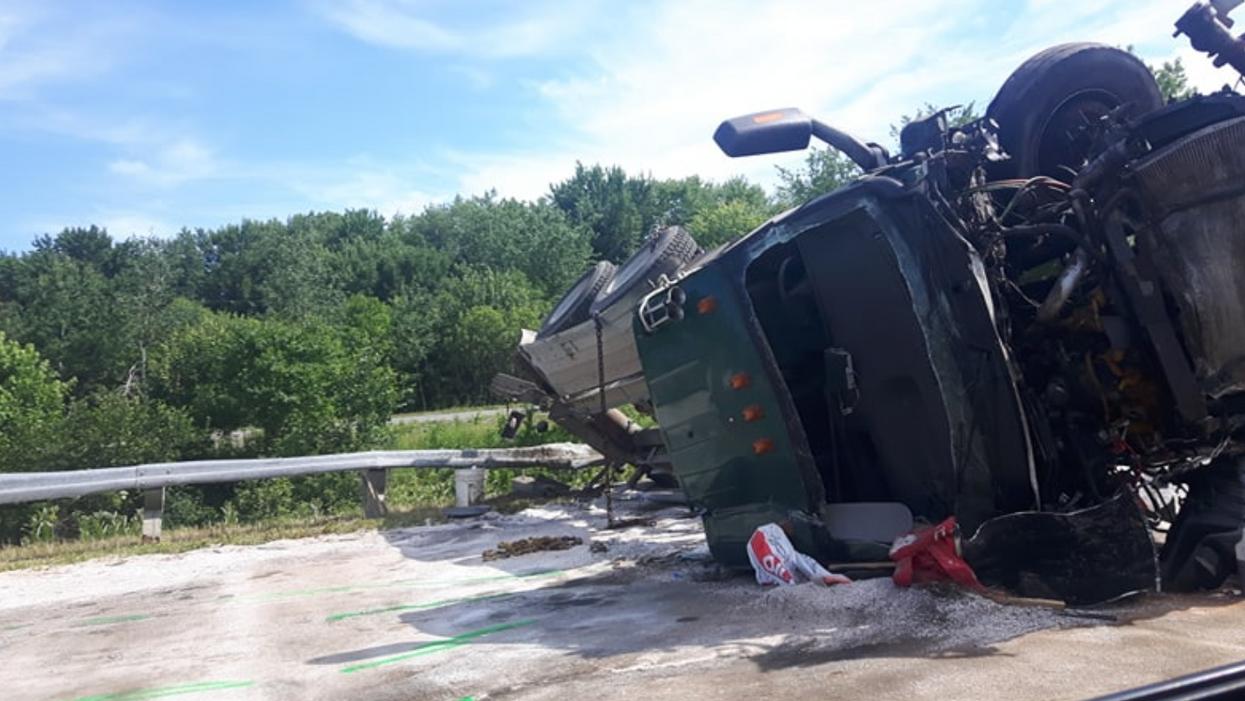 Un gros accident cause un traffic de fou entre Montréal et Québec
