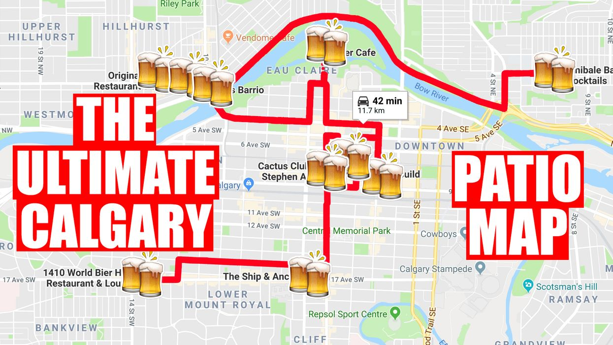 This Map Will Take You To All Of The Best Patios In Calgary
