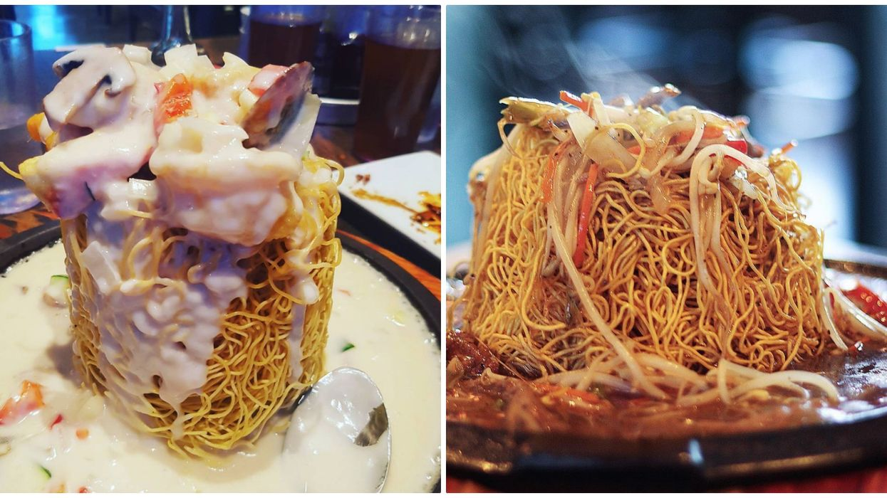 This Calgary Restaurant Serves Giant Fried Noodle Towers