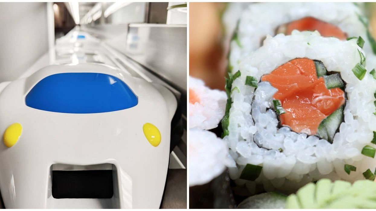 This New Sushi Restaurant In Calgary Serves Your Food Via Bullet Train