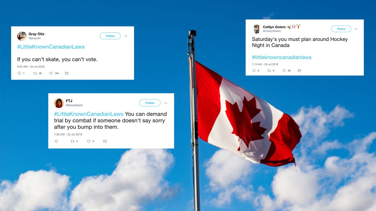 Canadians Are Making Up Their Own National Laws And They're Hilariously Spot On