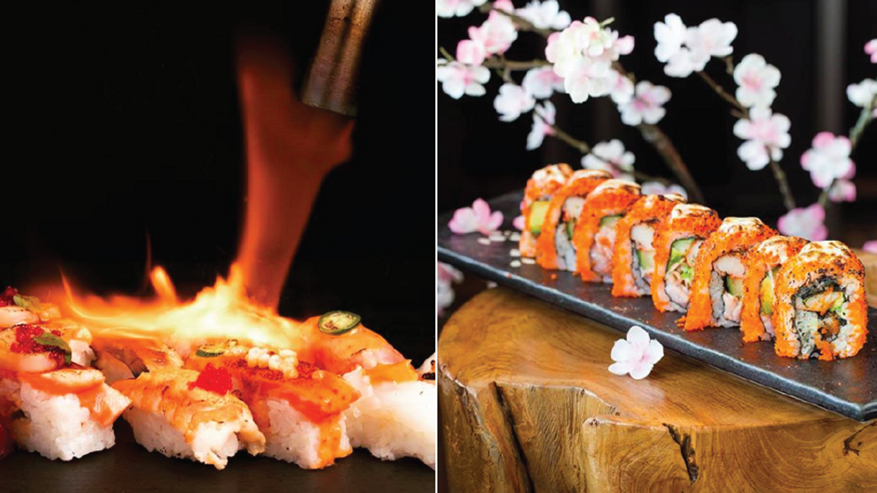 This All You Can Eat Japanese Spot In Canada Serves Flaming Sushi