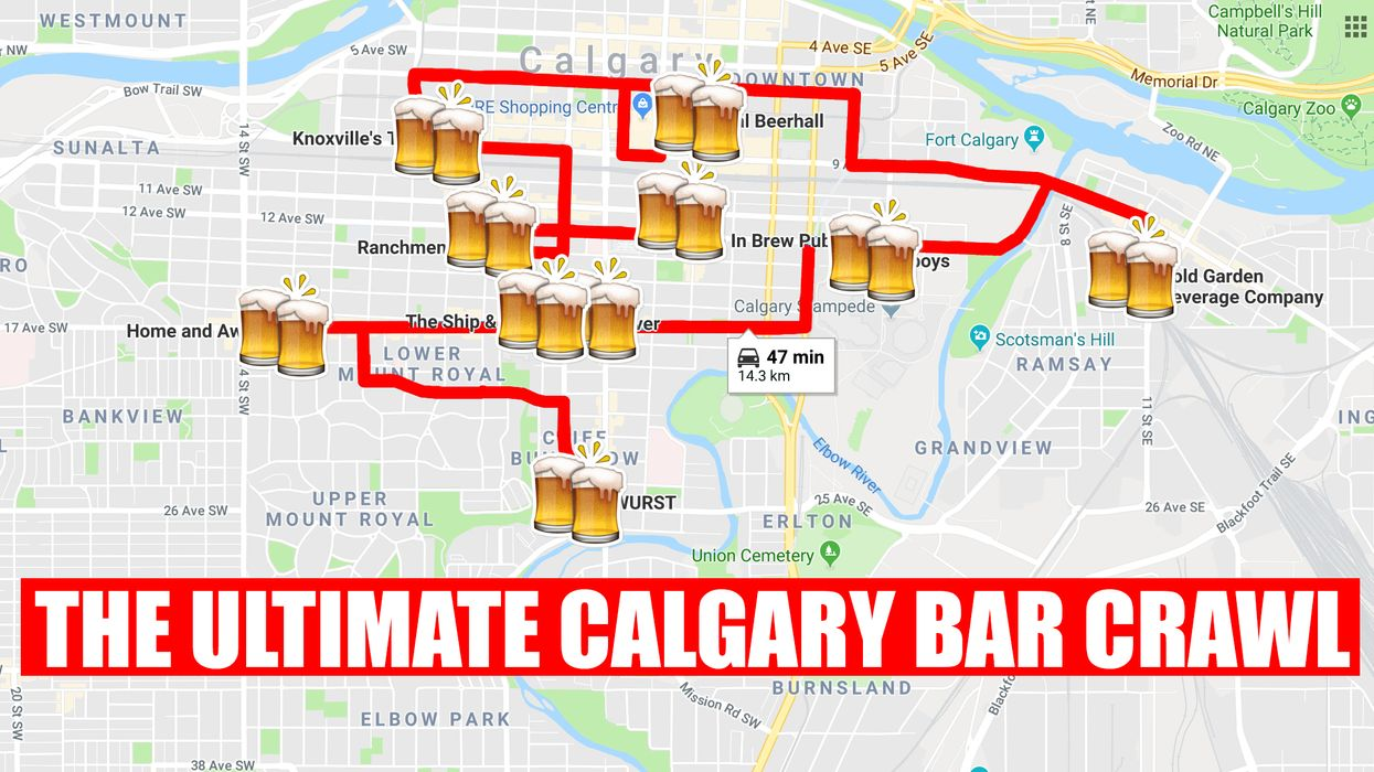 The Perfect Calgary Summer Bar Crawl For You And Your BFFs