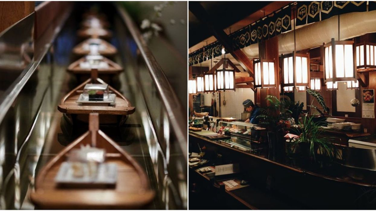 This Restaurant In Ottawa Serves Your Sushi Via Little Boats