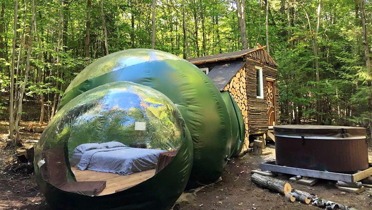 Tu vas bientôt pouvoir louer une méga-bulle où peuvent dormir 6 personnes au Québec