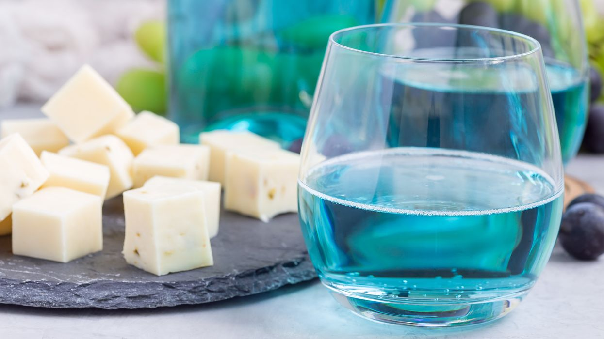 Canadians Are Obsessed With This Blue Wine And Here's Where You Can Get It