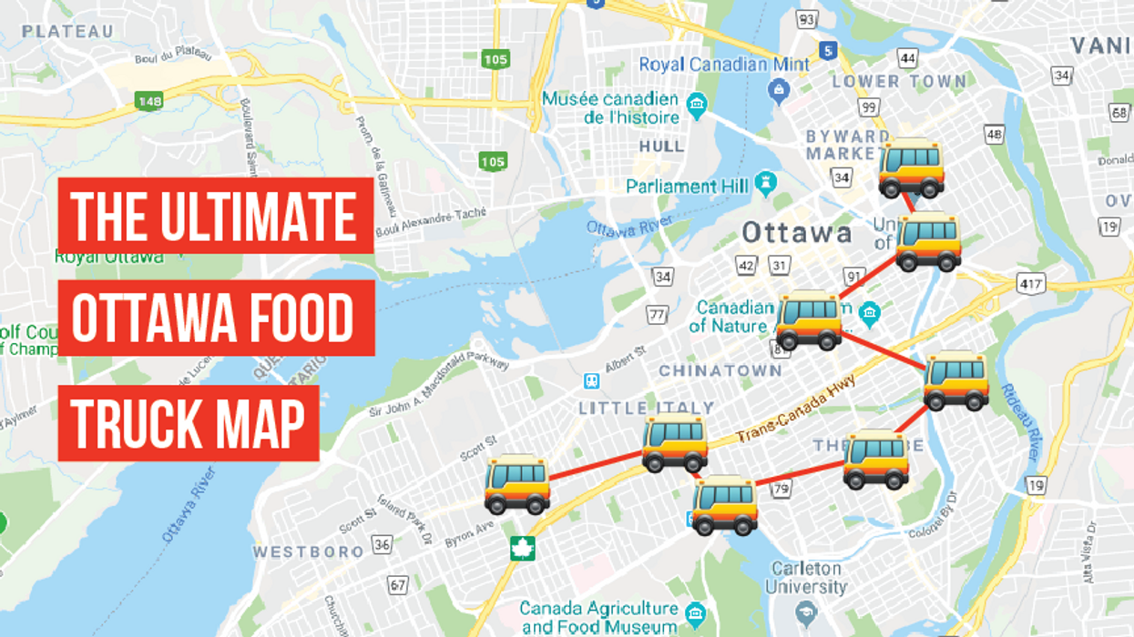 This Map Will Take You To The Best Food Trucks In Ottawa