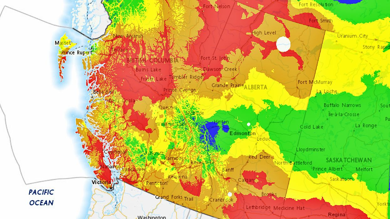 Canada Map Shows Just How Bad The Fires Are In B.C. As It Declares A Provincial State Of Emergency
