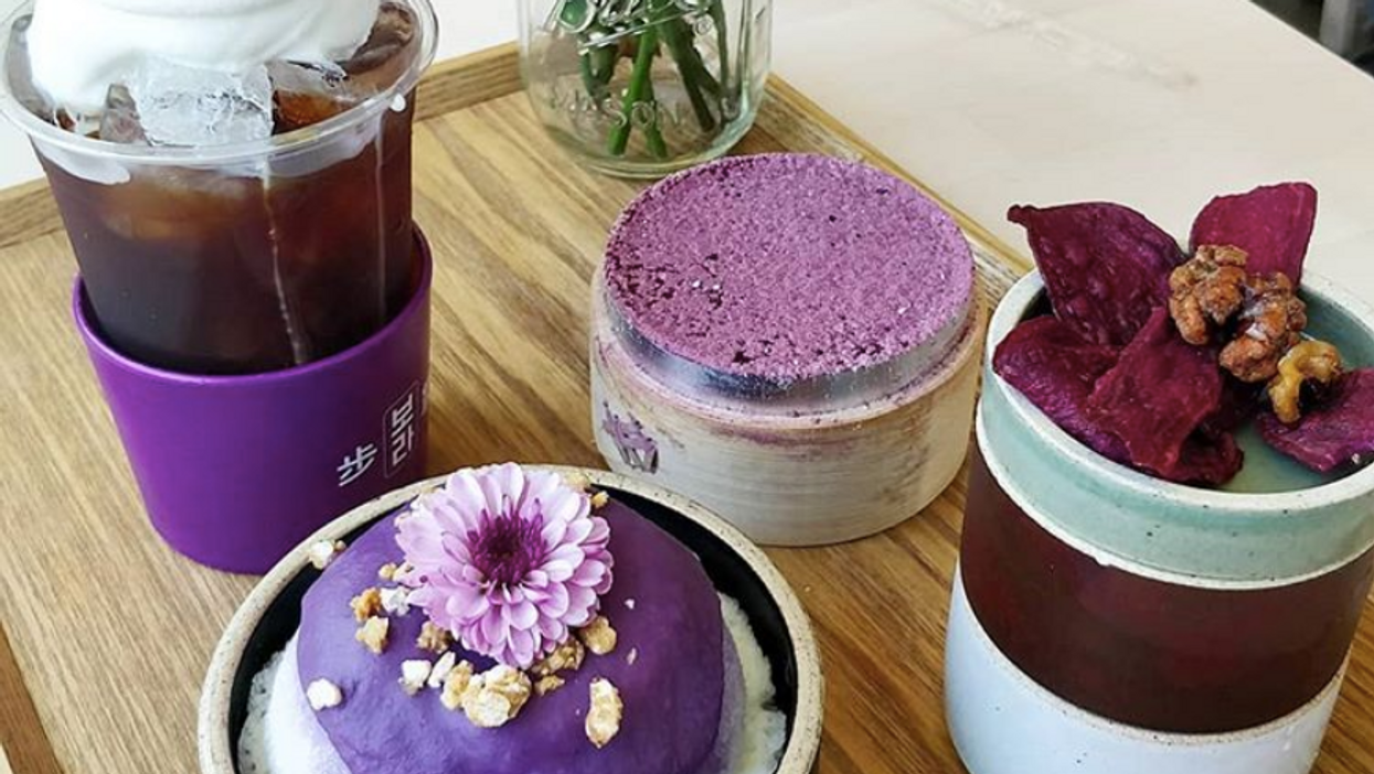 This Korean Cafe Is Coming To Toronto And It's Devoted To Purple-Coloured Desserts