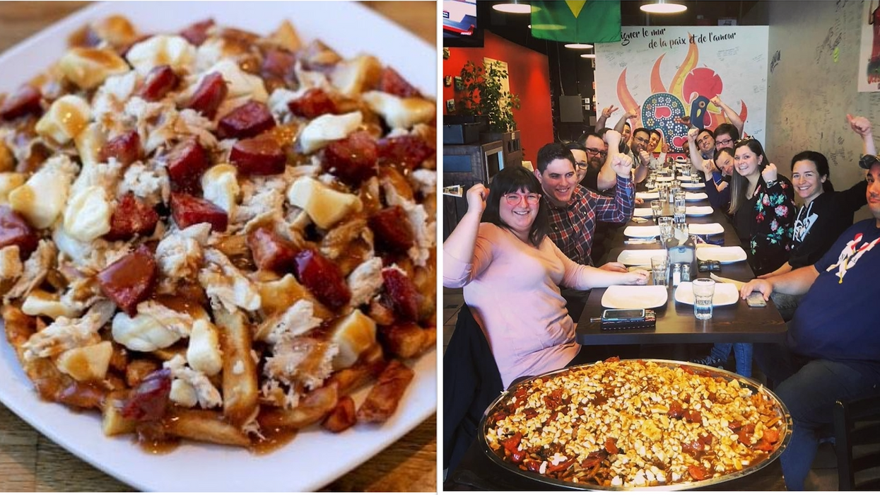 This Restaurant In Montreal Serves The World's Largest Poutine And It Weighs 40 lbs