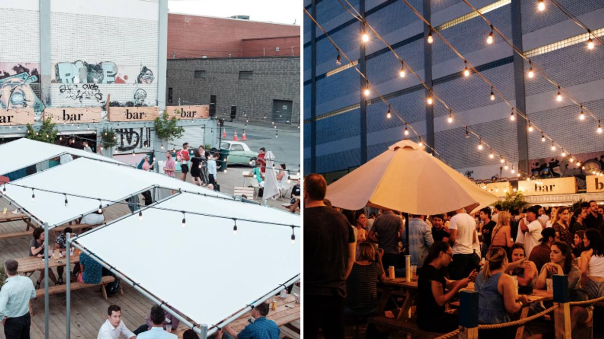 Il y a un gros party gratuit dans ce bar à ciel ouvert ce weekend pour fêter la fin de l'été à Montréal