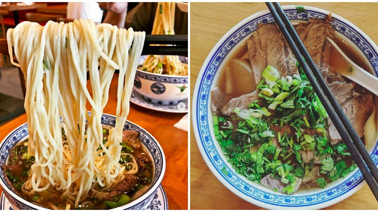 There Is A New Hand-Pulled Noodles Spot in Toronto With Extremely Long Noodle Pulls