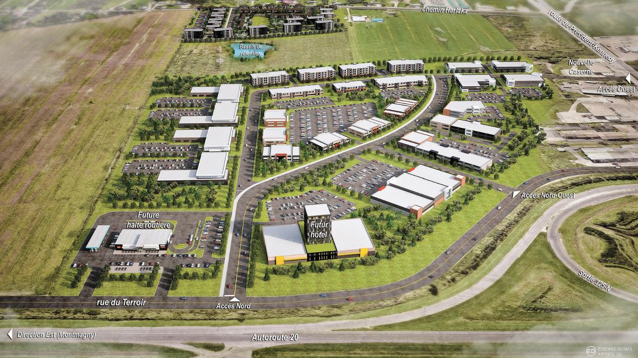 Voici de quoi aura l'air le gros projet commercial de 550 millions $ en banlieue de Québec