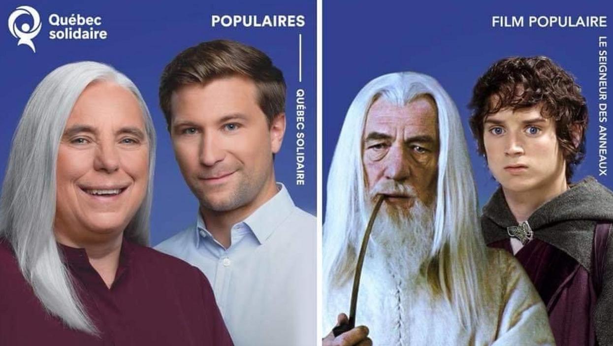 Un Québécois créé une parodie des élections avec Le Seigneur des anneaux et ça devient viral