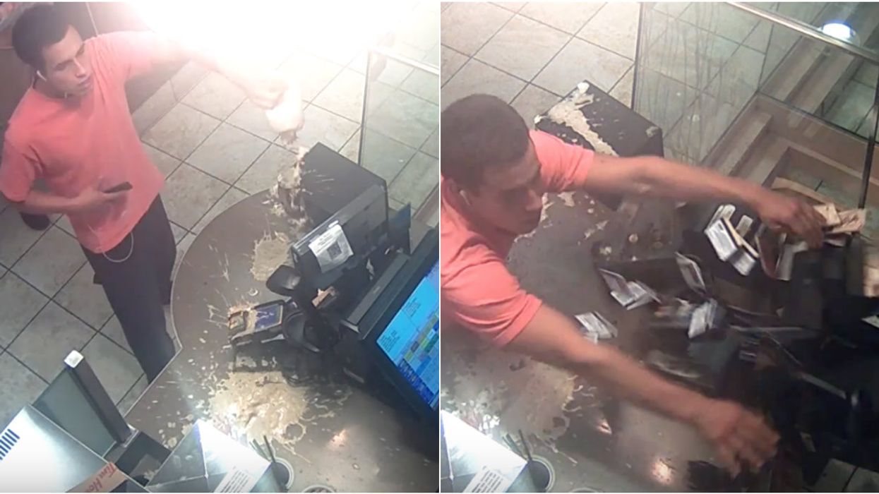 A Man Trashed A BC Tim Hortons After His Iced Capp Was Made Wrong (VIDEO)