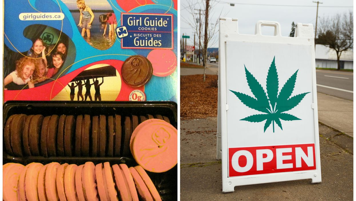 A Canadian Girl Sold Out Of Girl Guide Cookies By Strategically Selling Near A Marijuana Store Yesterday And It's Hilarious