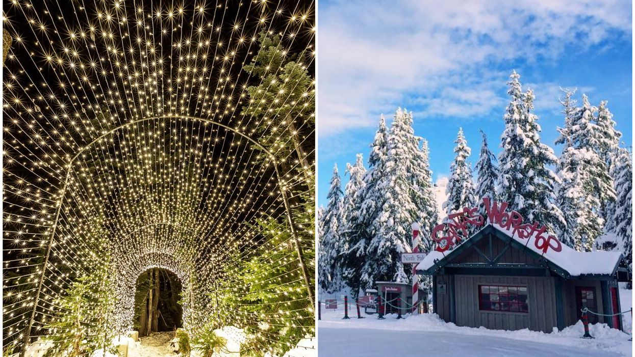 This Vancouver Mountain Top Is Transforming Into An Enchanting Christmas Village And Light Festival This Month