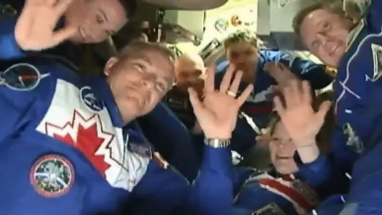 Canada's Astronaut David Saint-Jacques Just Sent His Very First Message From Space