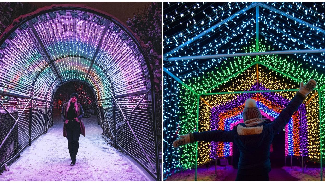 These 2 Canadian Zoos Are Hosting Huge Holiday Lights Festivals And They Look Magical