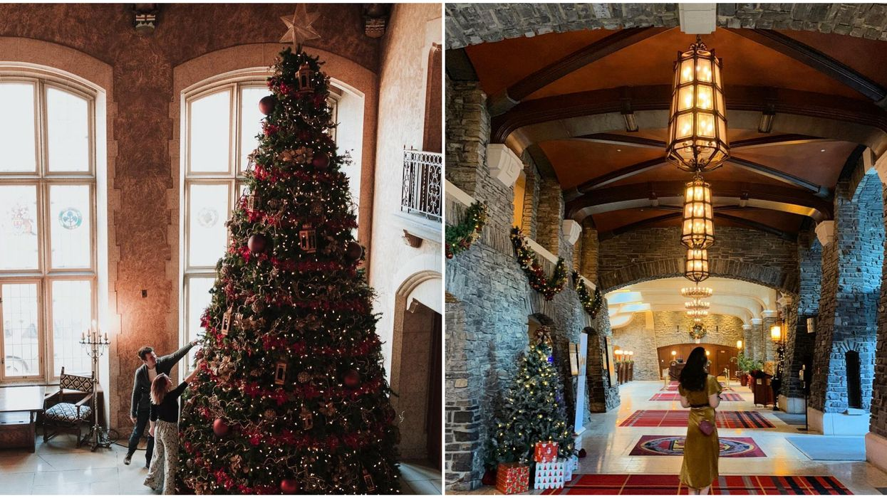 This Canadian Castle Turns Into A Christmas Fairytale During The Holidays
