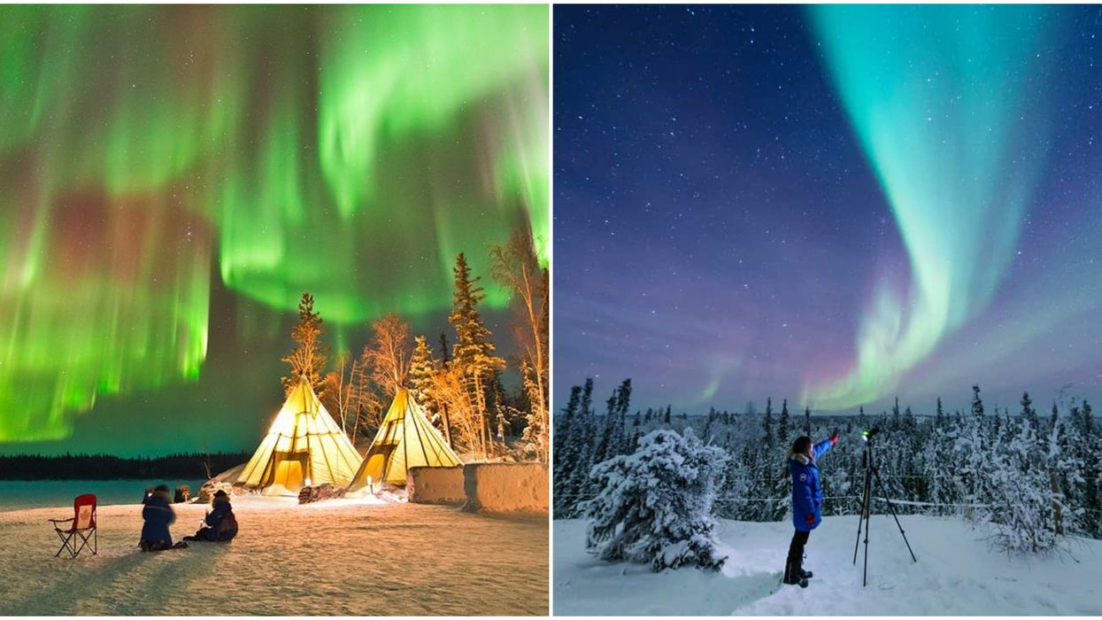 You Can Stay In A Cozy Tipi Village Under The Northern Lights In Canada