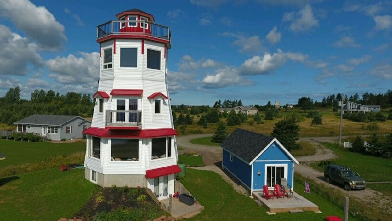 You Can Actually Stay In An Adorable Lighthouse With A Private Beach For Super Cheap On Canada's East Coast