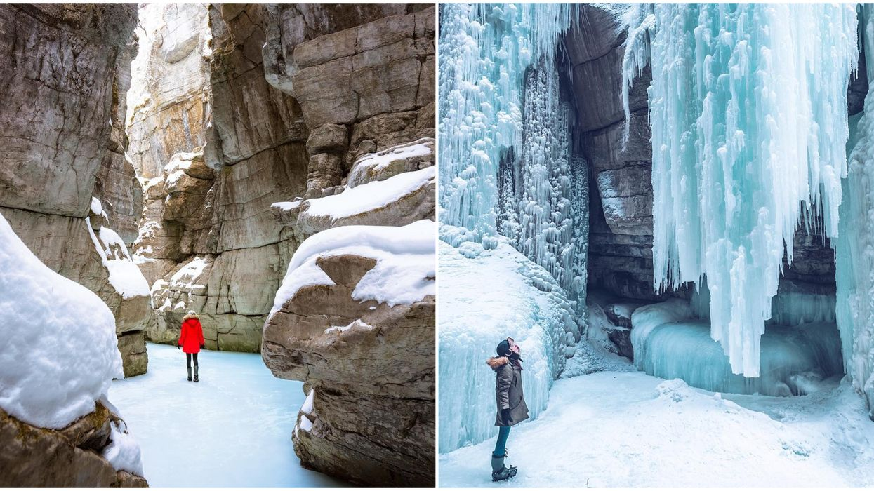 This 3.5 Km Winter Trail Will Take You Past Frozen Waterfalls And Canyons In Canada