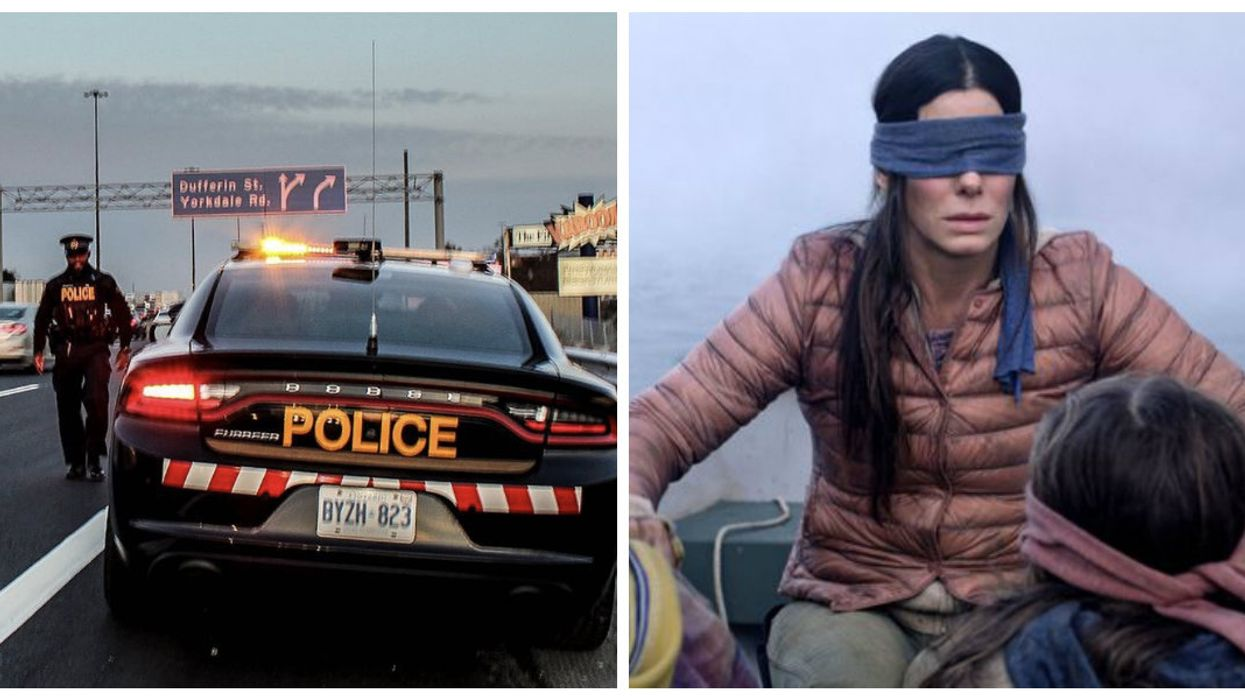 Ontario Police Are Using The Bird Box Challenge To Stop People From Texting While Driving
