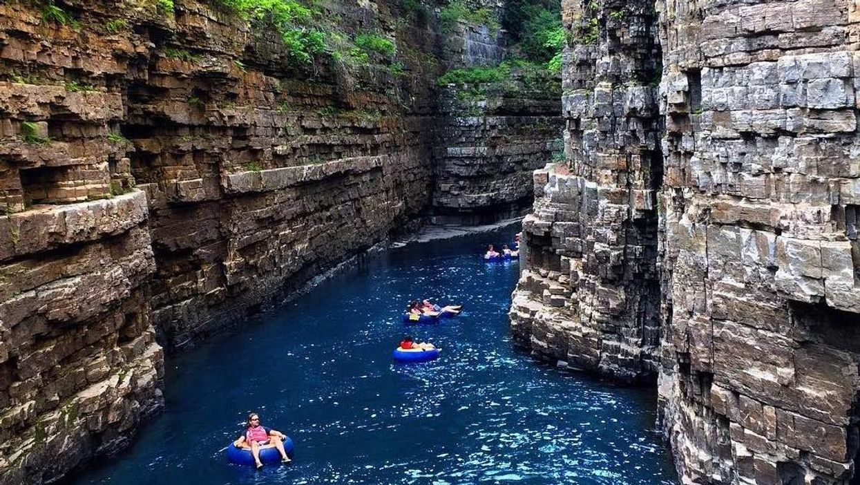 You Can Float Down A 3.2 km Lazy River Inside An Ancient Canyon Near Ontario This Summer