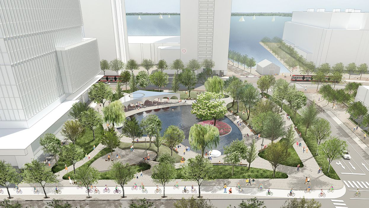Toronto Is Getting A Romantic New Park With A Heart-Shaped Pond (PHOTOS)