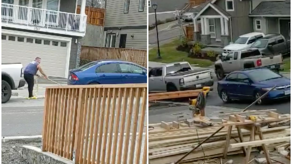 A Canadian Actually Towed A Car Blocking His Driveway Himself And The Footage Is Hilarious (VIDEO)