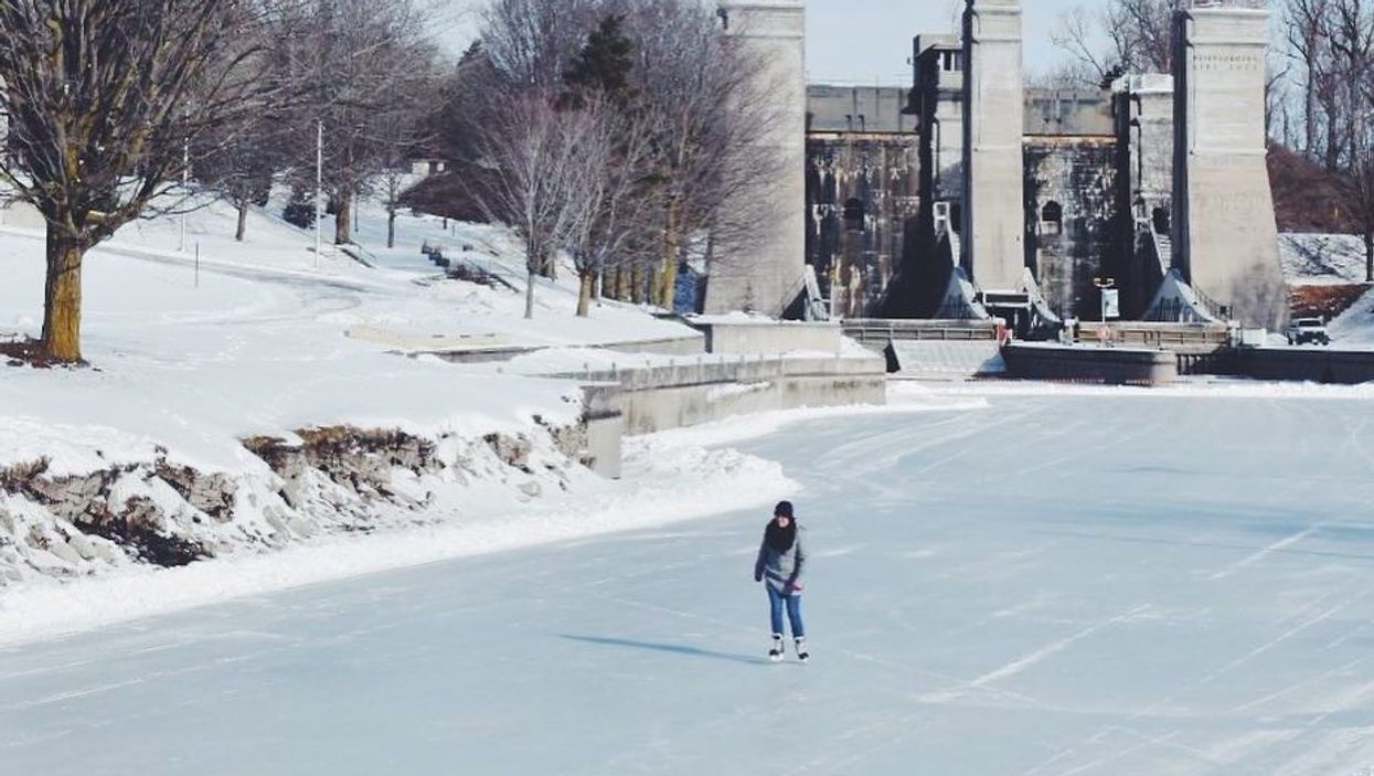 You Can Skate Along A 2 Km Frozen Canal Just Outside Of Toronto This Winter