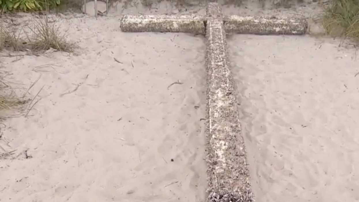 The Answer To The Mystery Of The 'Holy' Cross That Strangely Appeared On A Florida Beach