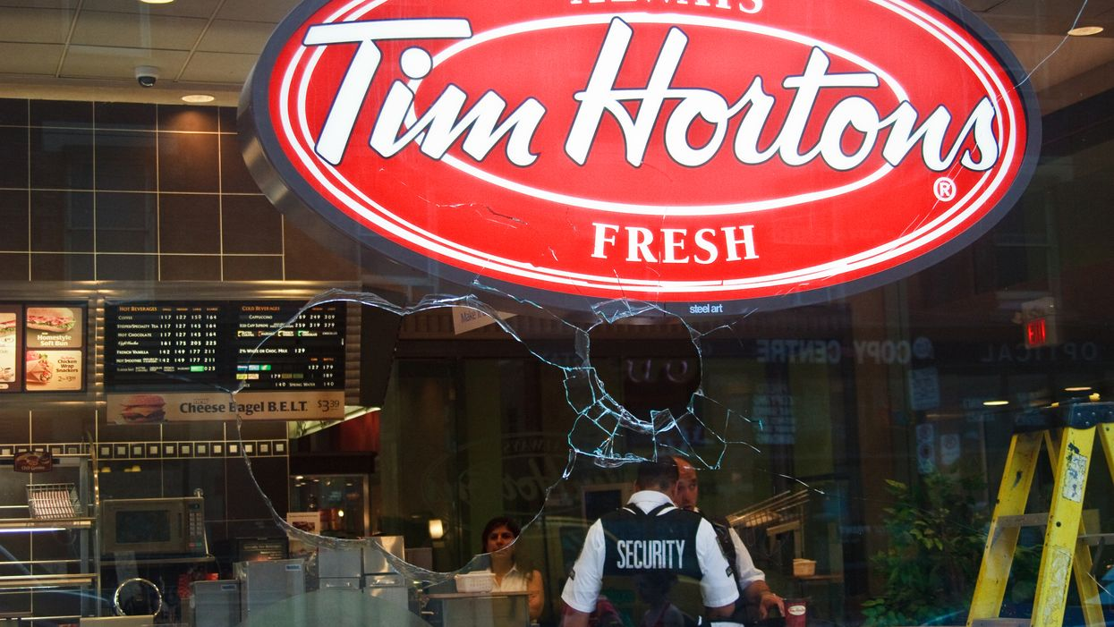 An Armed Robber Held Up A Tim Hortons In A Small BC Town And Police Are Still Trying To Find Him