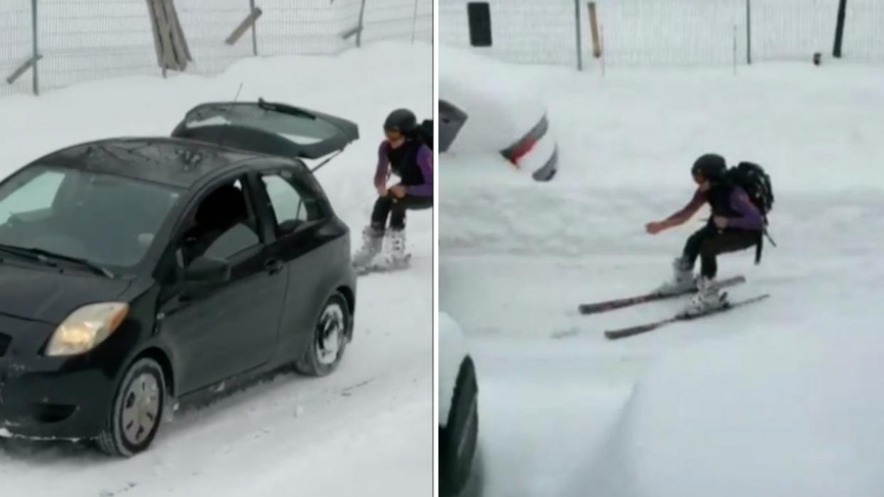 Ce Montréalais vient d'inventer un nouveau sport d'hiver et tu dois voir ça (Vidéo)