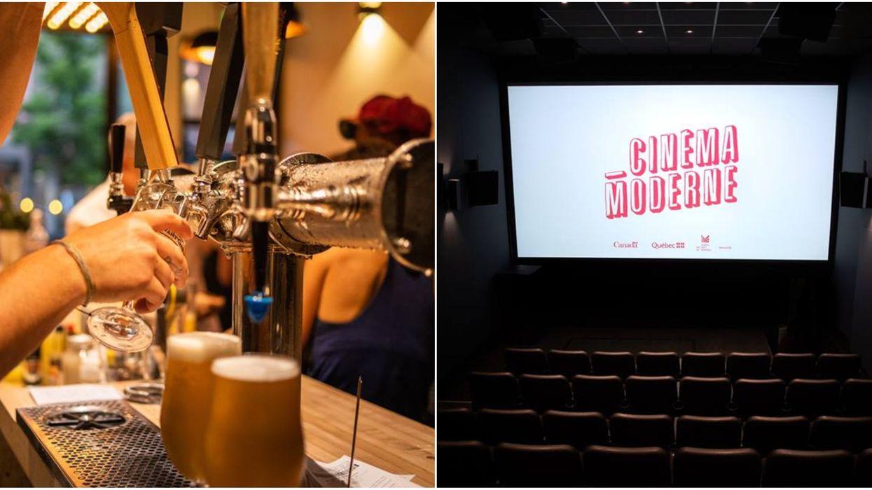 Tu peux boire un verre tout en regardant un film à ce cinéma-bar de Montréal