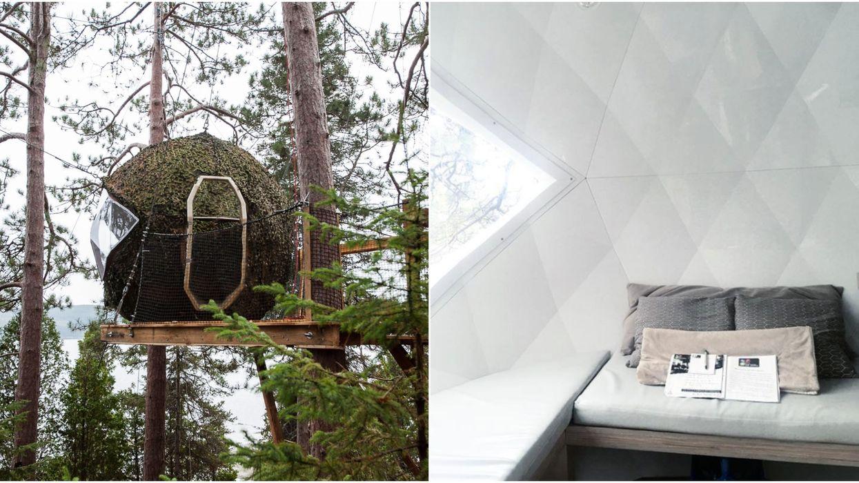 Tu peux passer une nuit de rêve dans des bulles suspendues en forêt près de Québec