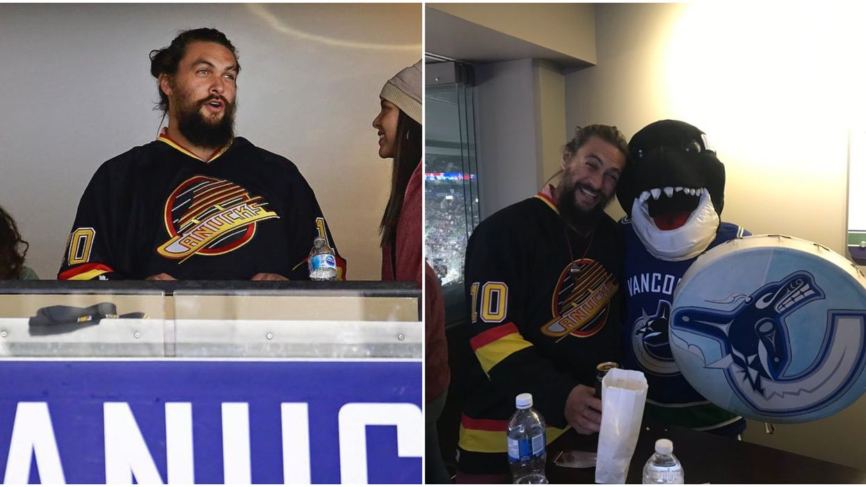 Game Of Thrones Actor Jason Momoa Was Just Spotted Cheering At A Canadian Hockey Game (VIDEOS)