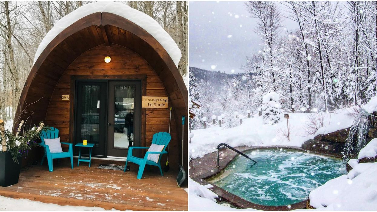 You Can Stay In These Adorable Mini Pod Cabins Inside A Nordic Spa Near Ontario
