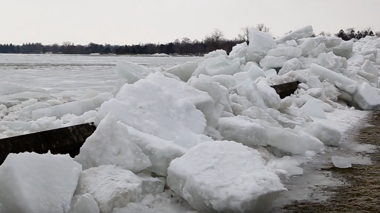 A Tidal Wave Of Ice Crashes Through A Wall And Causes Homes To Flood In Ontario (VIDEO)