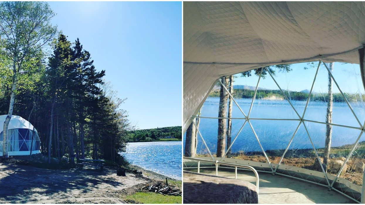 This All-New 'Glamping Dome Village' In Canada Is Now Open