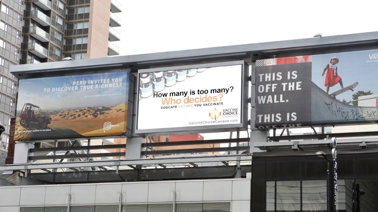 Toronto's New Anti-Vaccine Billboards Are Already Being Taken Down