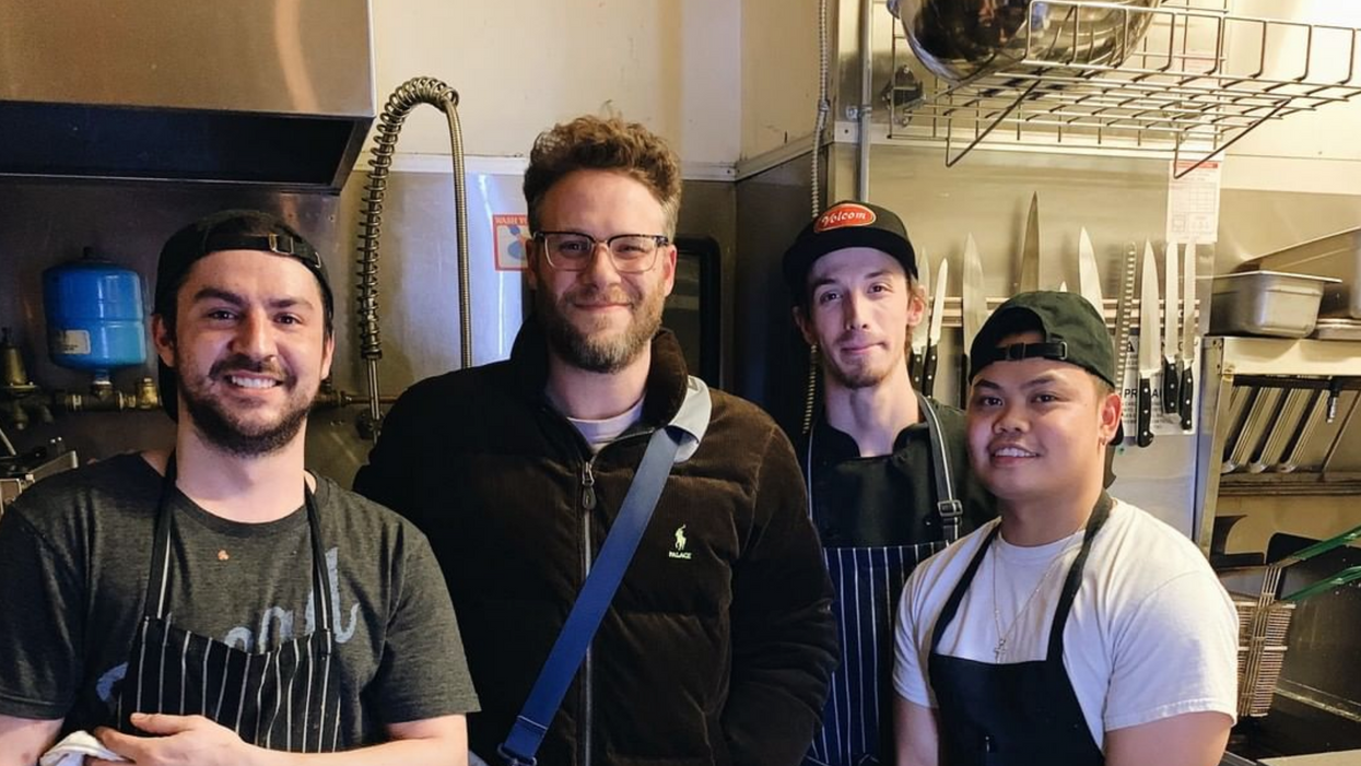 Seth Rogen Spotted Eating At Childhood Restaurant And Proves He Hasn't Lost His Canadian Roots (PHOTOS)