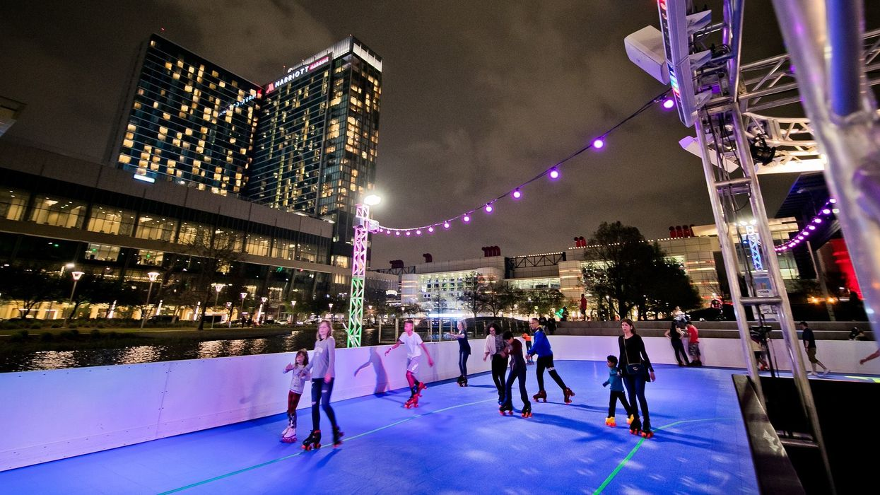 This Giant Austin Parking Lot Will Be Transformed Into A Skating Rink This Weekend