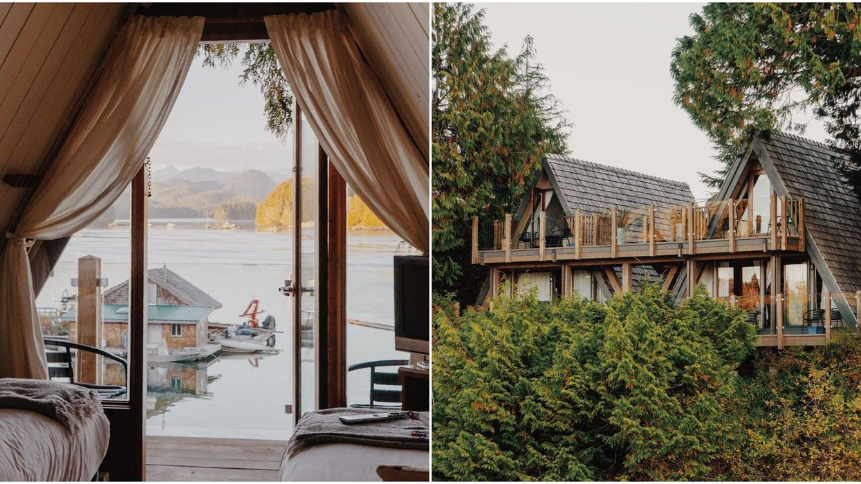 You Can Stay In A Dreamy A-Frame Cabin Right On The Water In Tofino