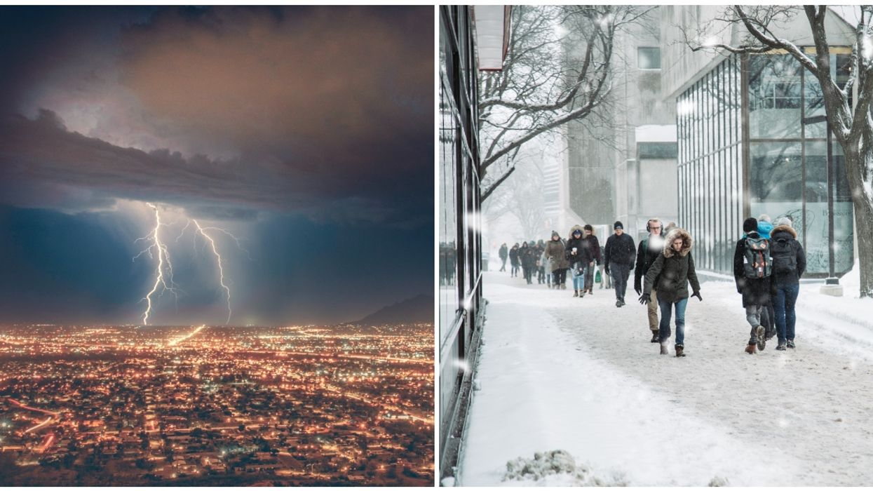 """Environment Canada Expects Vancouver To Get Hit By """"Rare Snow, Rain And Thunderstorm"""" Today"""